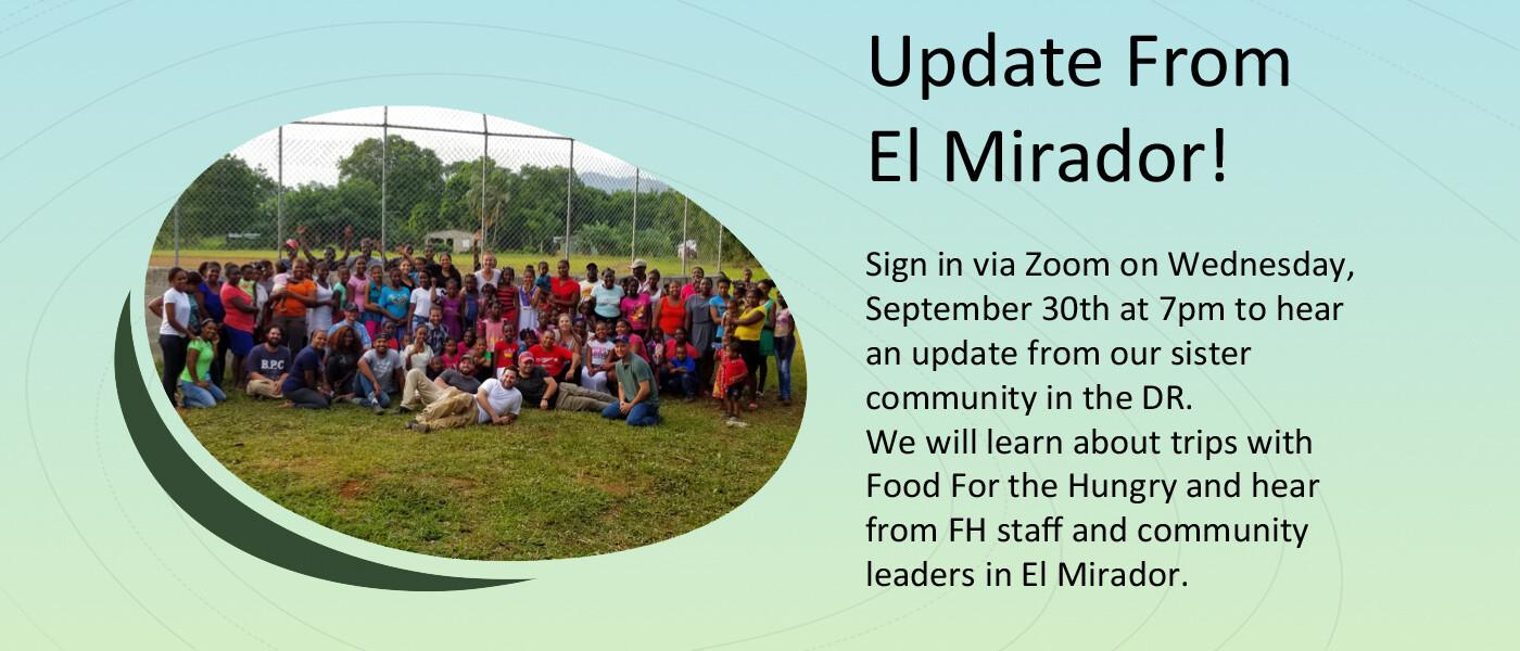 Update from El Mirador